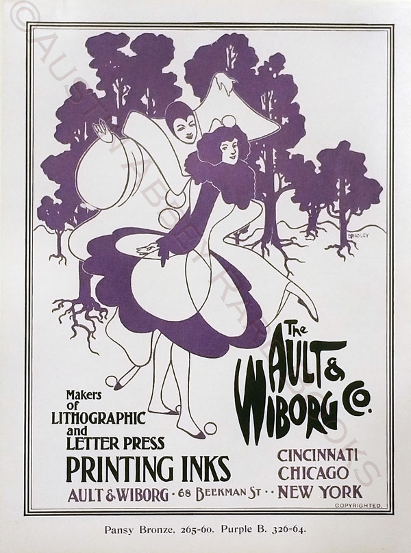 Image for THE AULT AND WIBORG COMPANY PRINTING INKS: POSTER PIERROT AND PIERRETTE