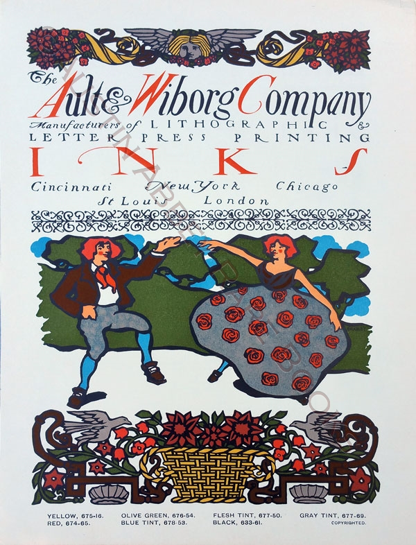 Image for THE AULT AND WIBORG COMPANY PRINTING INKS POSTER SEPTEMBER, 1900