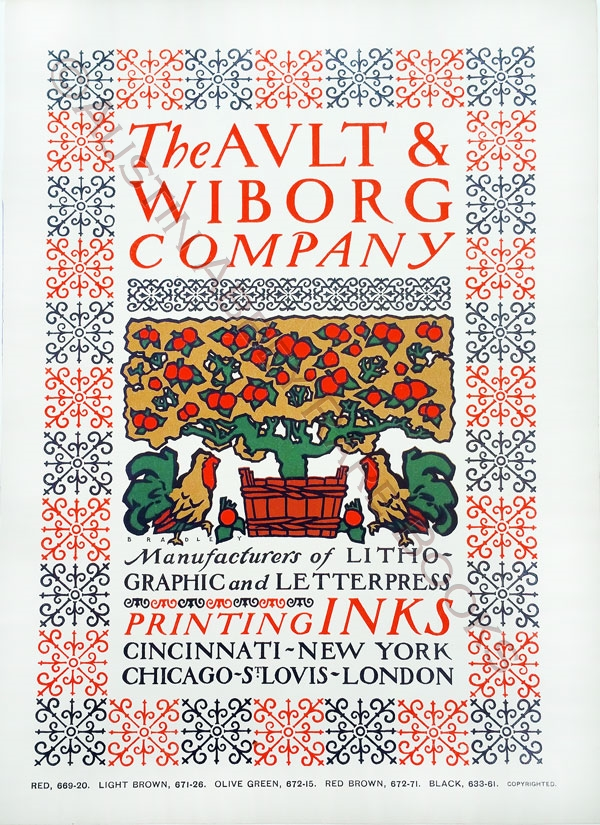 Image for THE AULT AND WIBORG COMPANY PRINTING INKS POSTER AUGUST, 1900