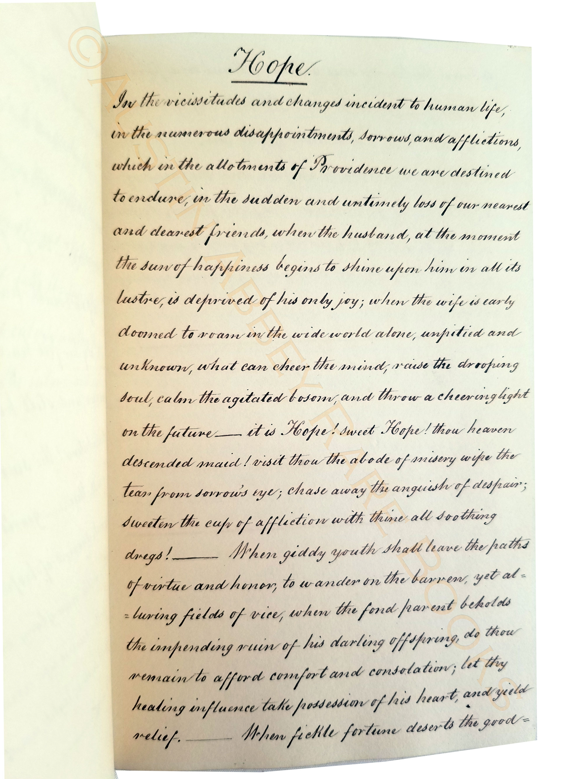 Image for MANUSCRIPT COMMONPLACE BOOK IN COPPERPLATE SCRIPT