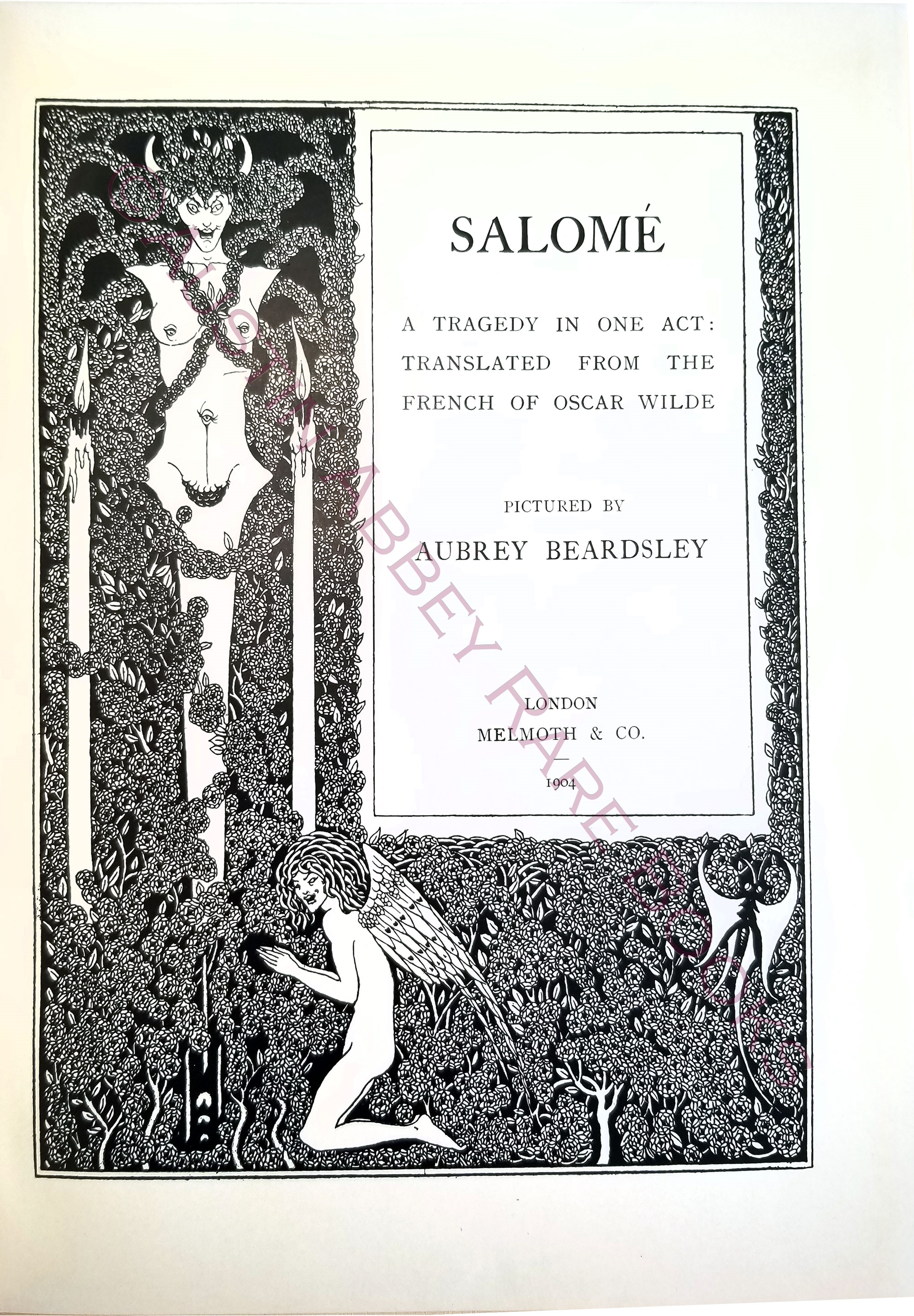 Image for SALOMÉ; A TRAGEDY IN ONE ACT